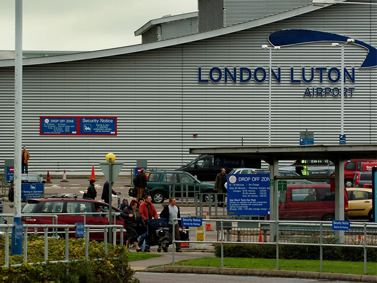 Luton Airport is a major factor in the local