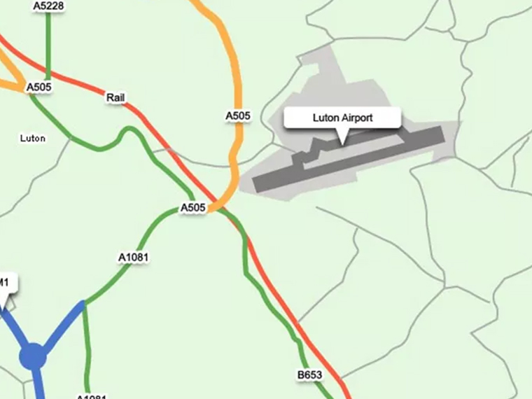 Luton Airport Map And directions