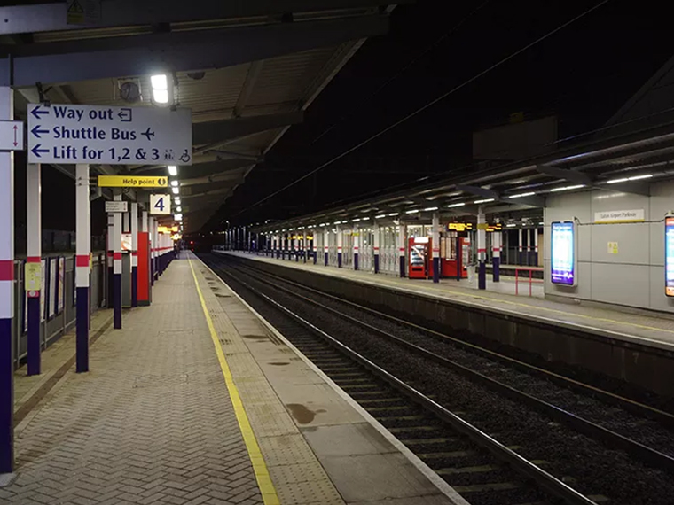 Train Station at Luton Airport