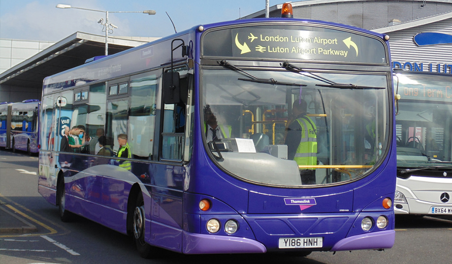 Shuttle bus between Luton Airport and Luton Airport Parkway